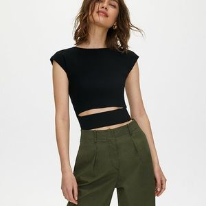 Wilfred Free Cut-out Knit Top